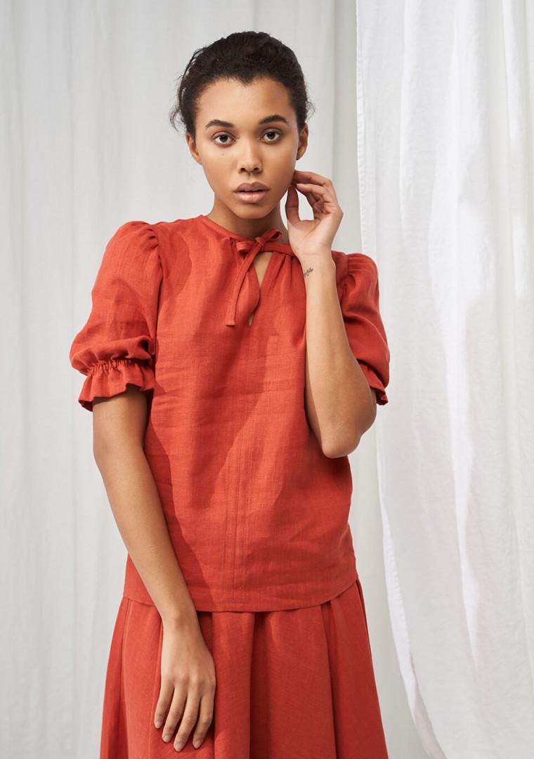 Linen puff sleeve top Lucia 6
