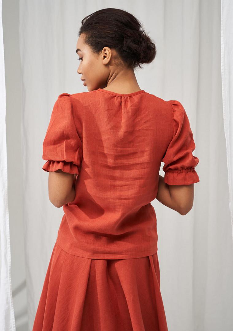 Linen puff sleeve top Lucia 7