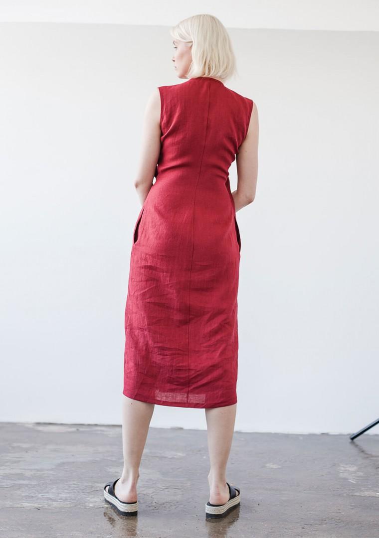 Linen wrap dress Lydia 6