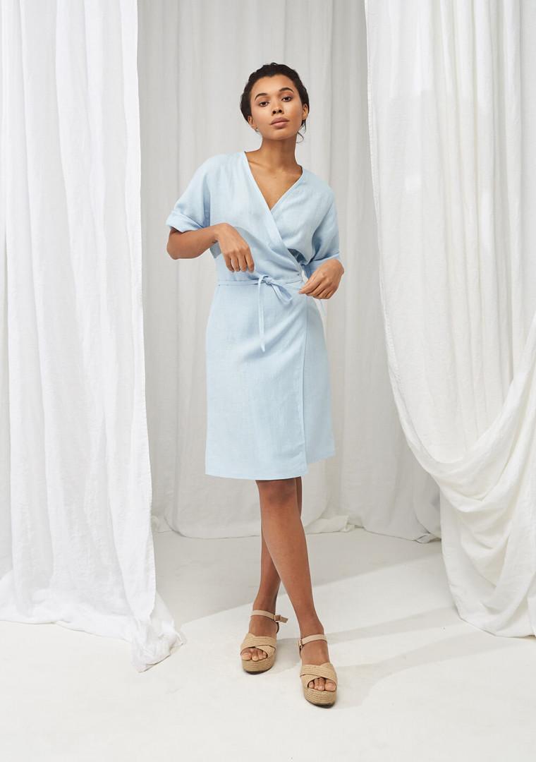 Linen wrap dress Noelle 8