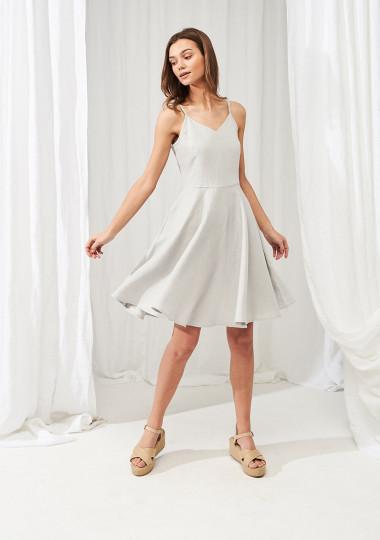 Midi linen circle dress Odessa