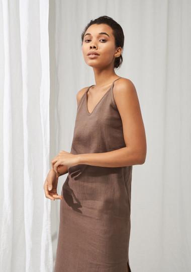 Maxi linen cami dress Zoe