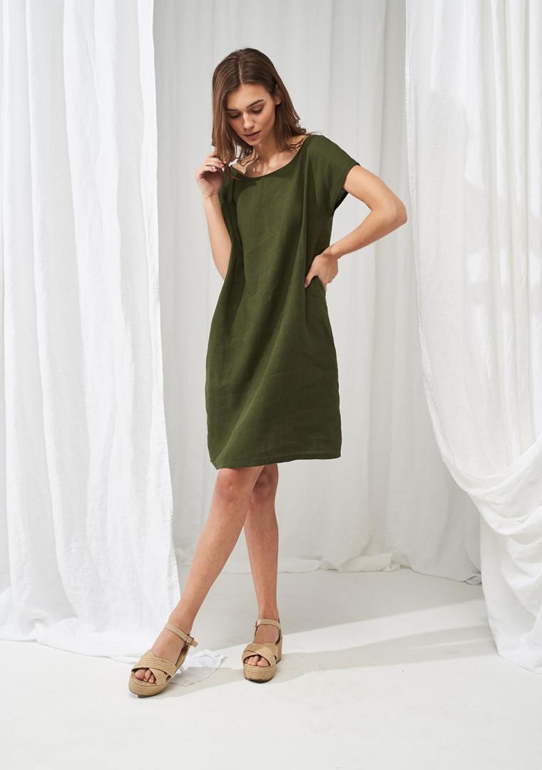 Simple linen tunic dress Teresa 1