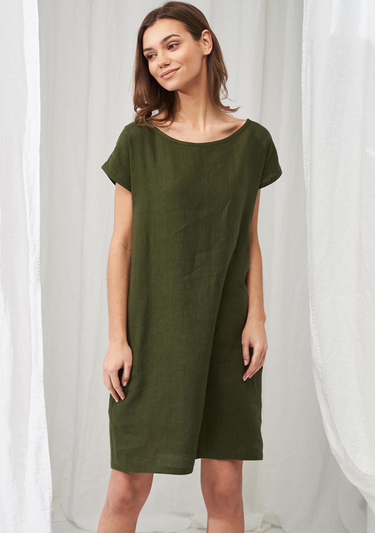 Simple linen tunic dress Teresa 3