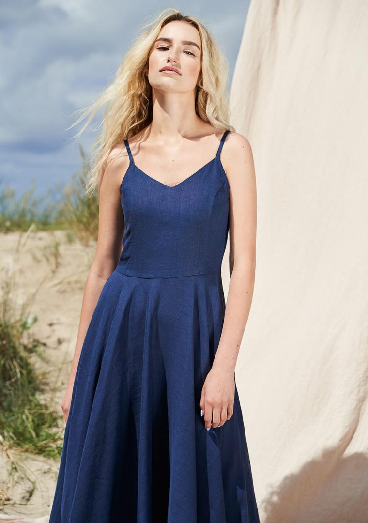 Maxi linen circle dress Odessa 9