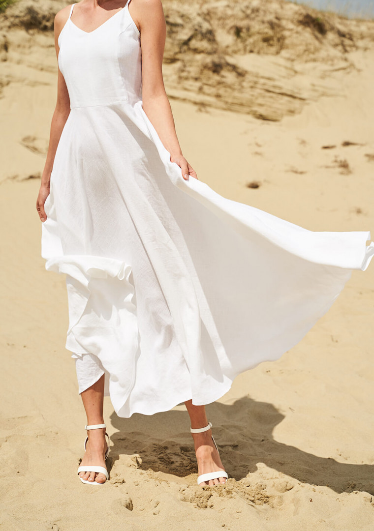 Maxi linen circle dress Odessa 4