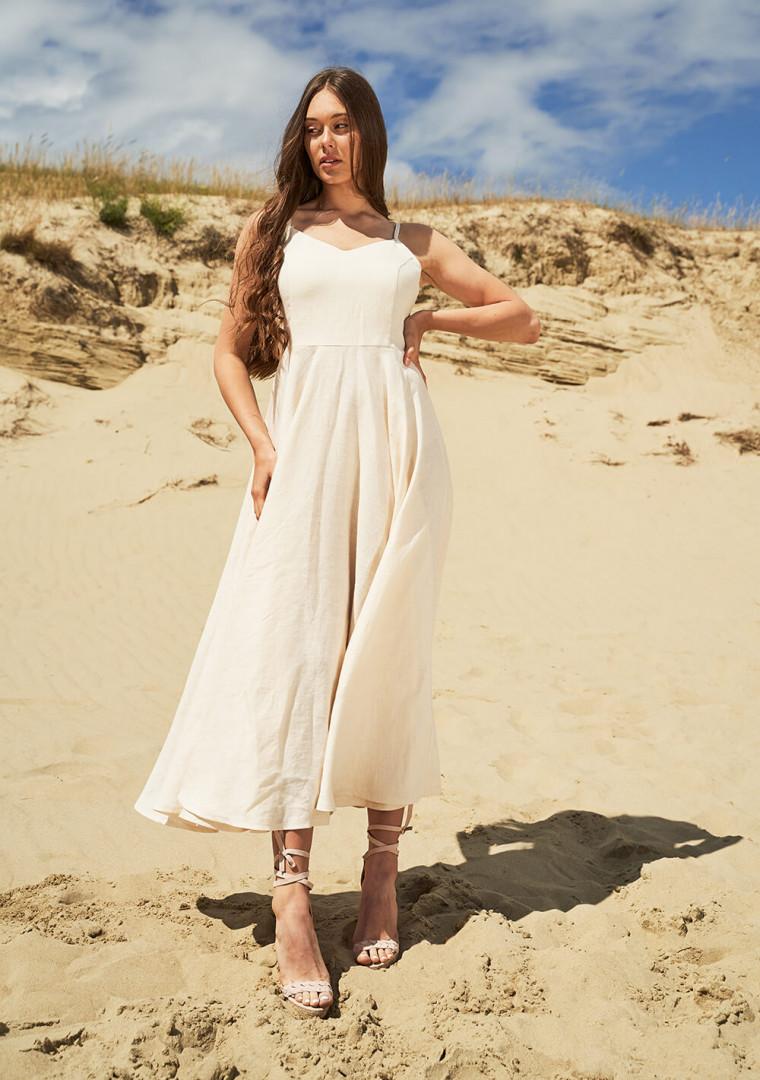 Maxi linen circle dress Odessa 2