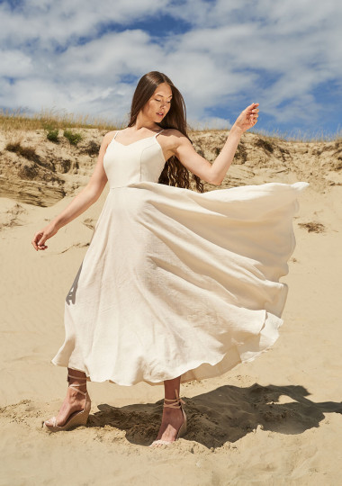 Maxi linen circle dress Odessa