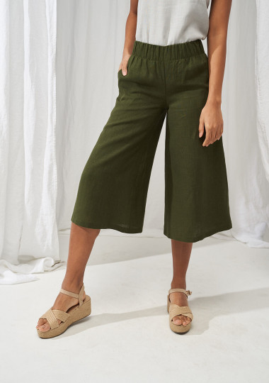 Linen culotte pants Sienna