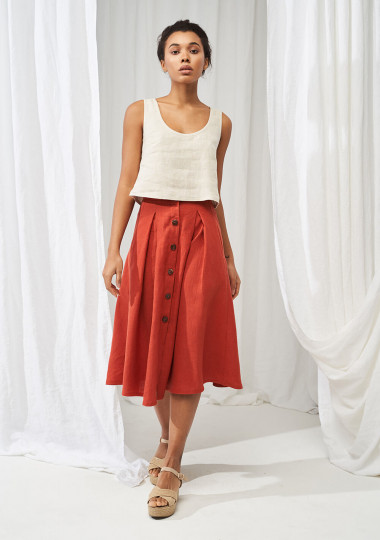 Linen crop top Stella