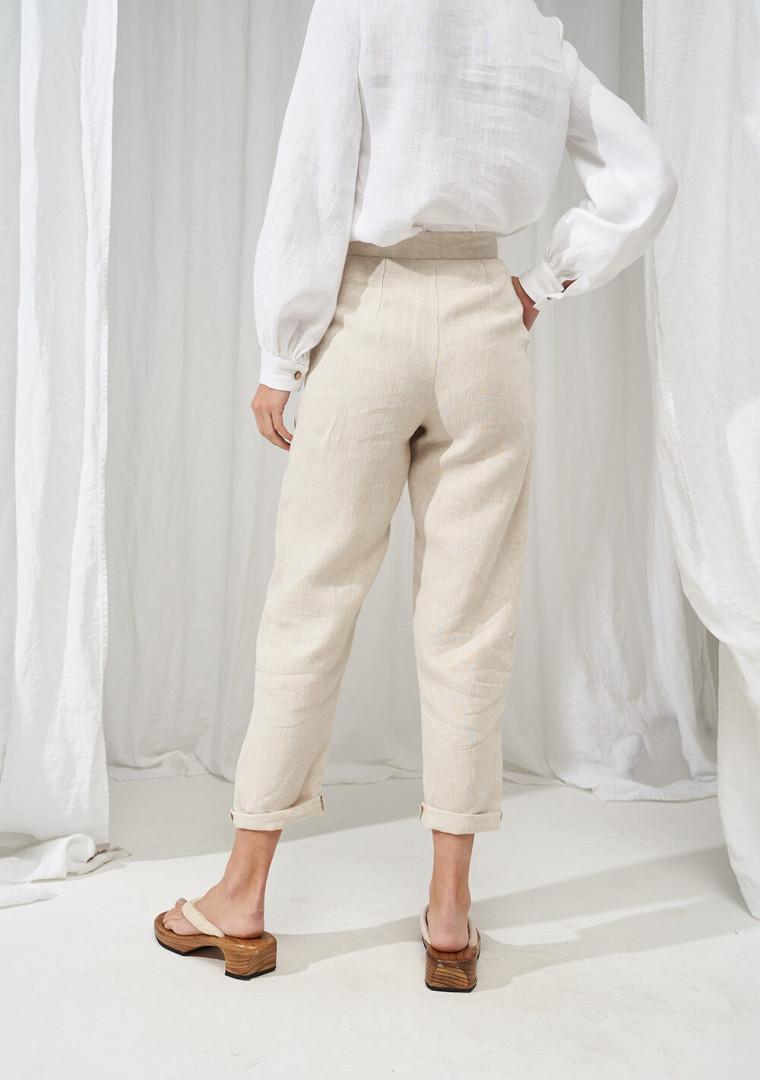 High waisted linen pants Delaney 4