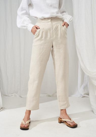 High waisted linen pants Delaney