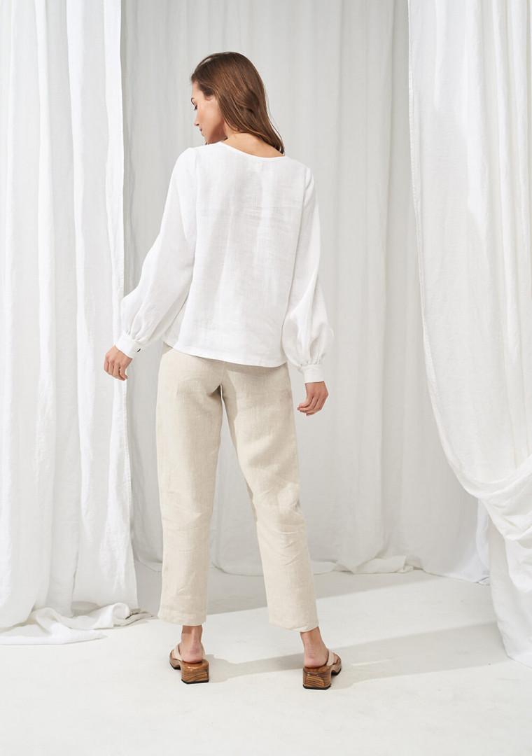 High waisted linen pants Delaney 5
