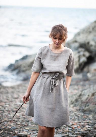 Natural linen dress Maeve