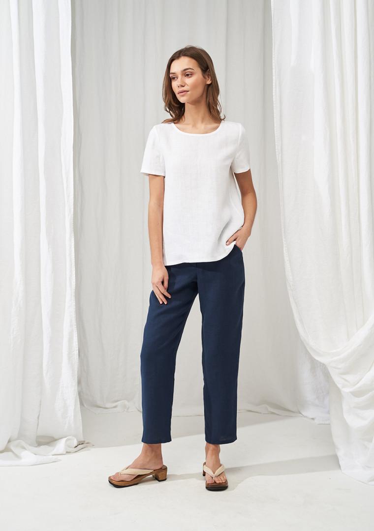 High waisted linen pants Delaney 2