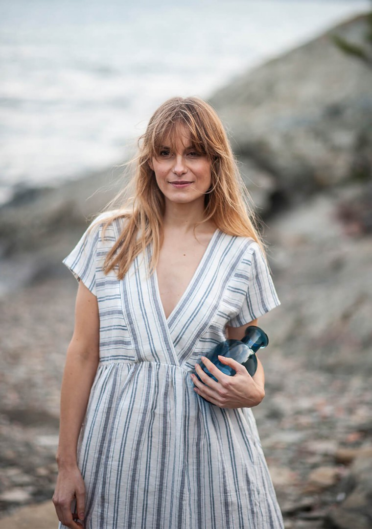 Striped linen dress Valentina 4