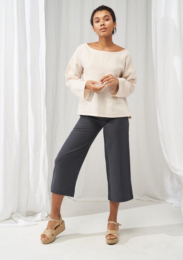 Wide leg linen pants Gemma 5