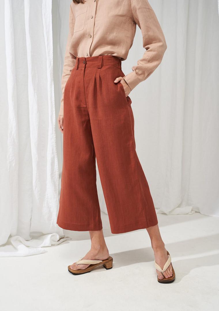 Wide leg linen pants Gemma 2