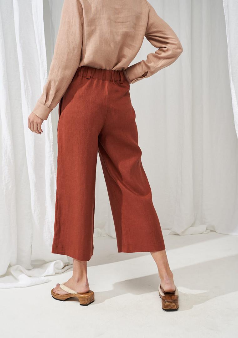 Wide leg linen pants Gemma 3
