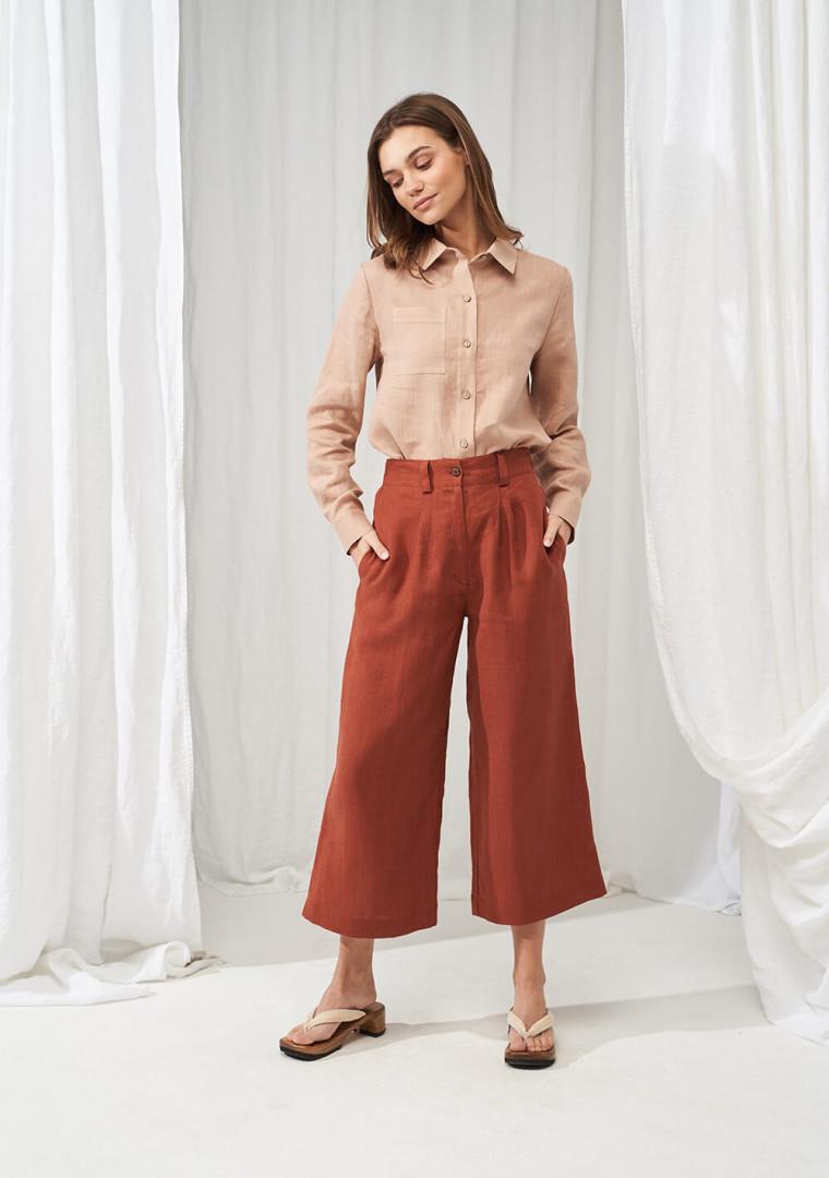 Wide leg linen pants Gemma 1