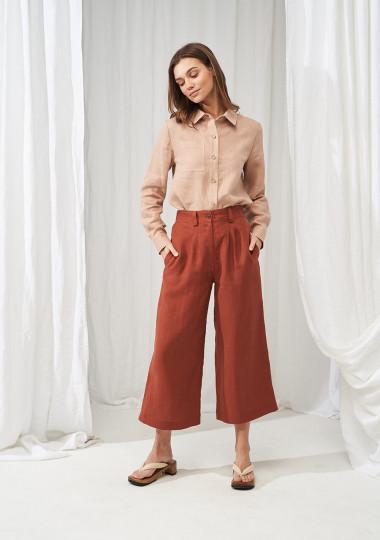 Wide leg linen pants Gemma
