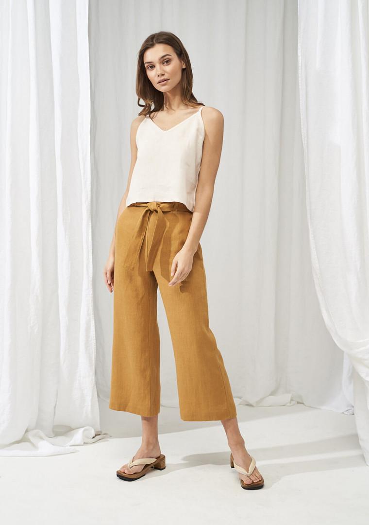 Linen crop pants Karter 1