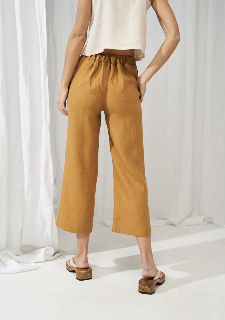 Linen crop pants Karter 3