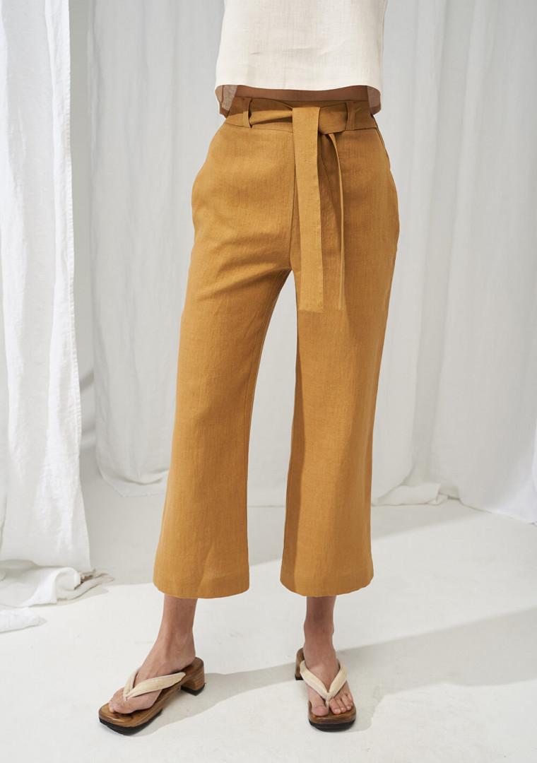 Linen crop pants Karter 2