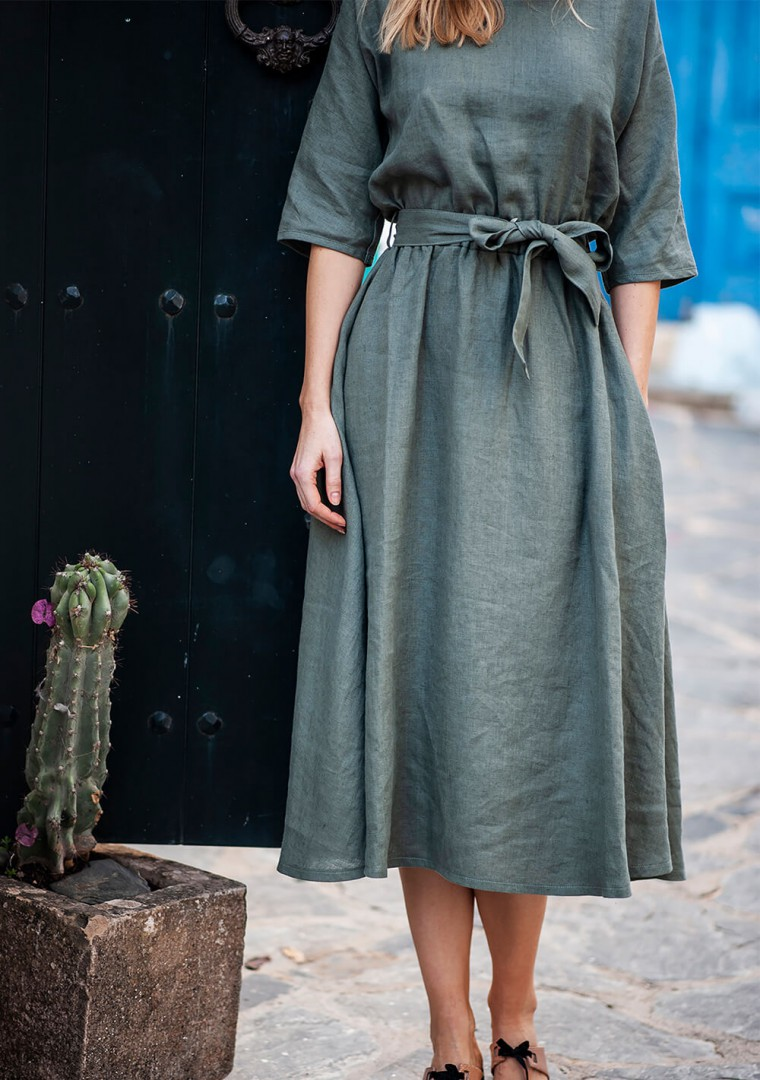 Ankle lenght linen dress Maeve 6