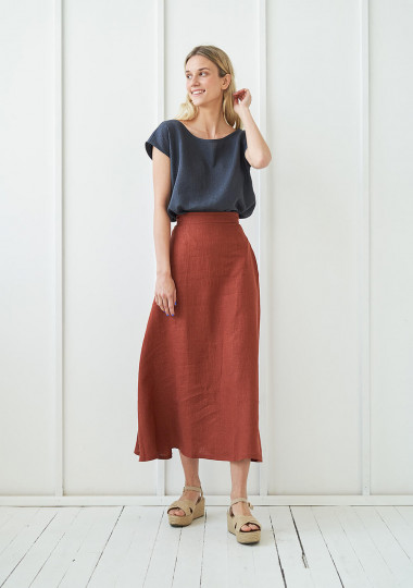 Sleeveless linen top Berlin