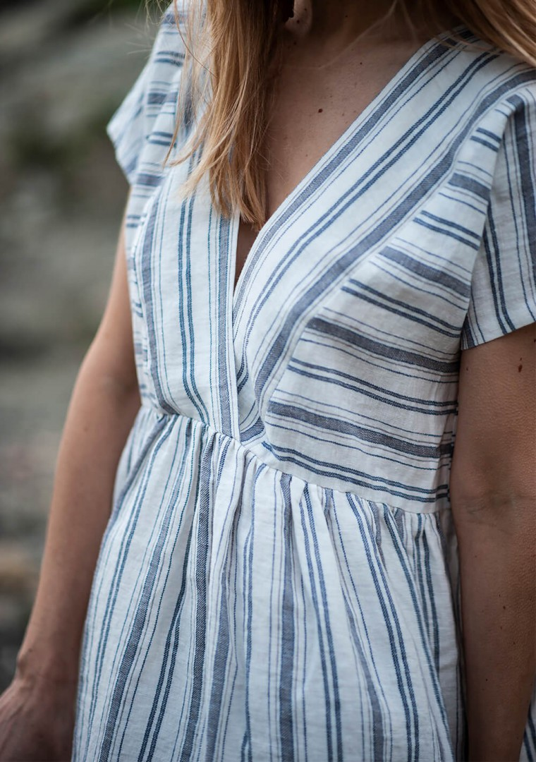 Striped linen dress Valentina 2