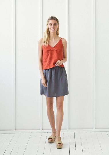 Julie linen mini skirt