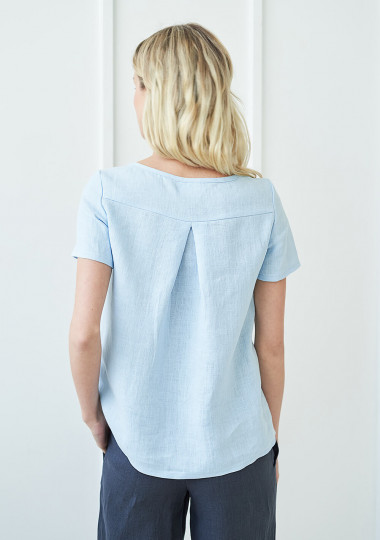 Short sleeve linen shirt Olivia