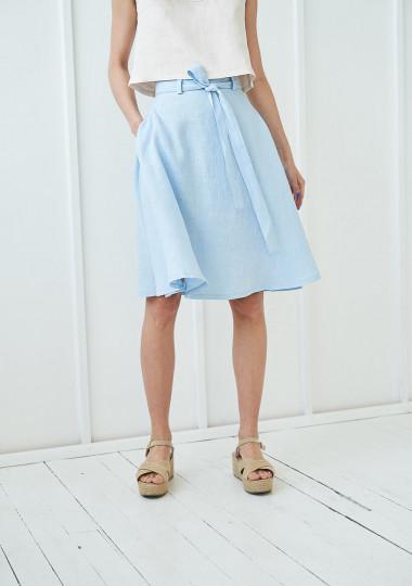 Flowy linen midi skirt Reign