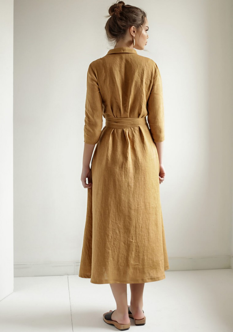 Linen wrap dress Marlena 6