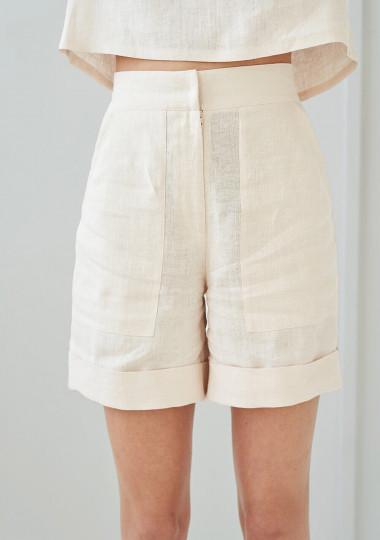 High waisted linen shorts Aspen