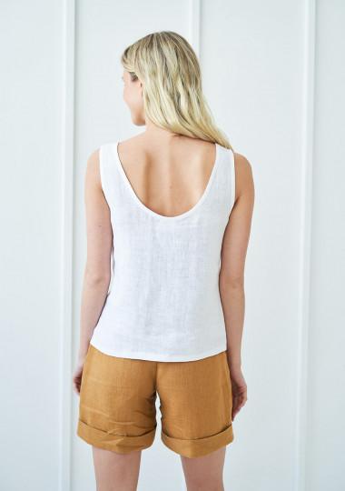 High waist linen shorts Aspen