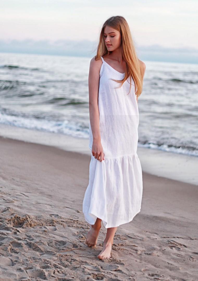 White linen cami dress Ophelia 1