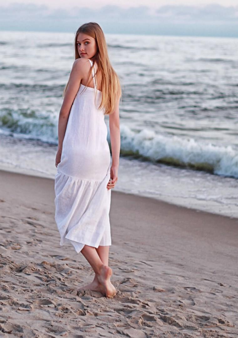 White linen cami dress Ophelia 4