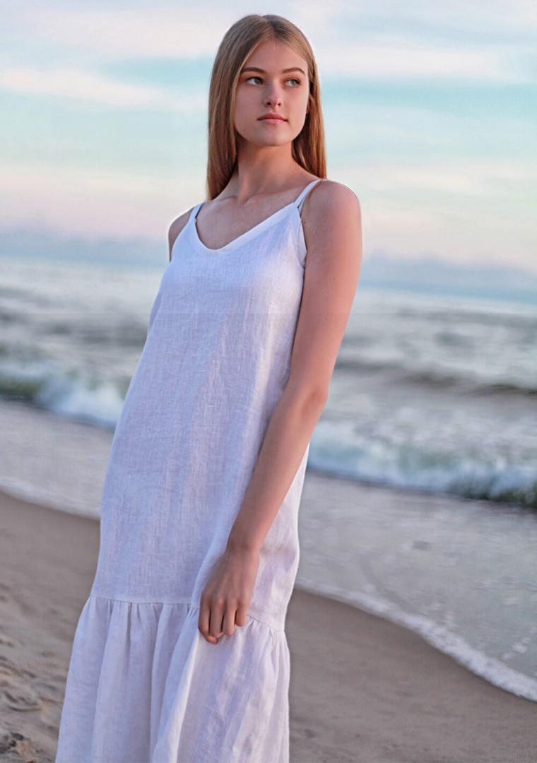 White linen cami dress Ophelia 3