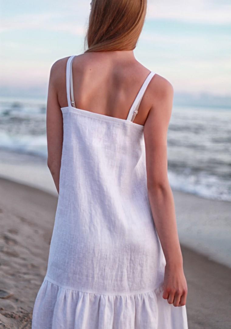White linen cami dress Ophelia 7