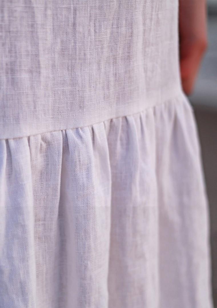 White linen cami dress Ophelia 8