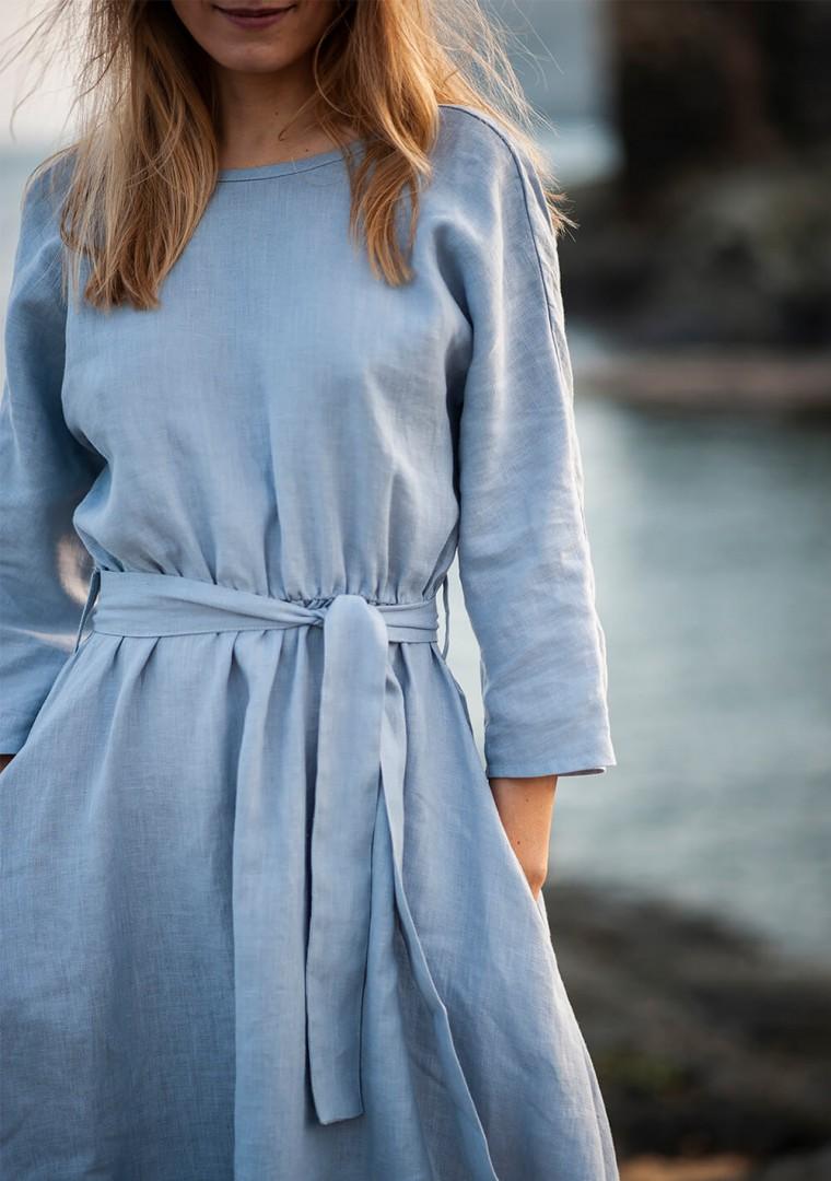 Wrap back linen dress Scarlett 3