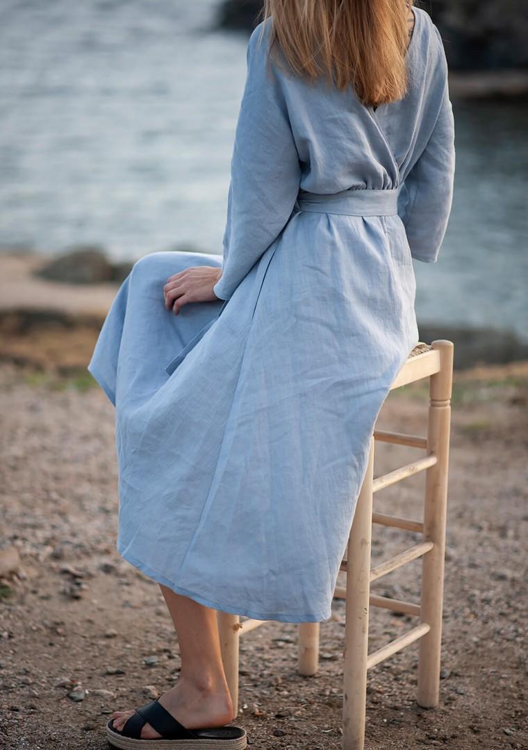 Wrap back linen dress Scarlett 6