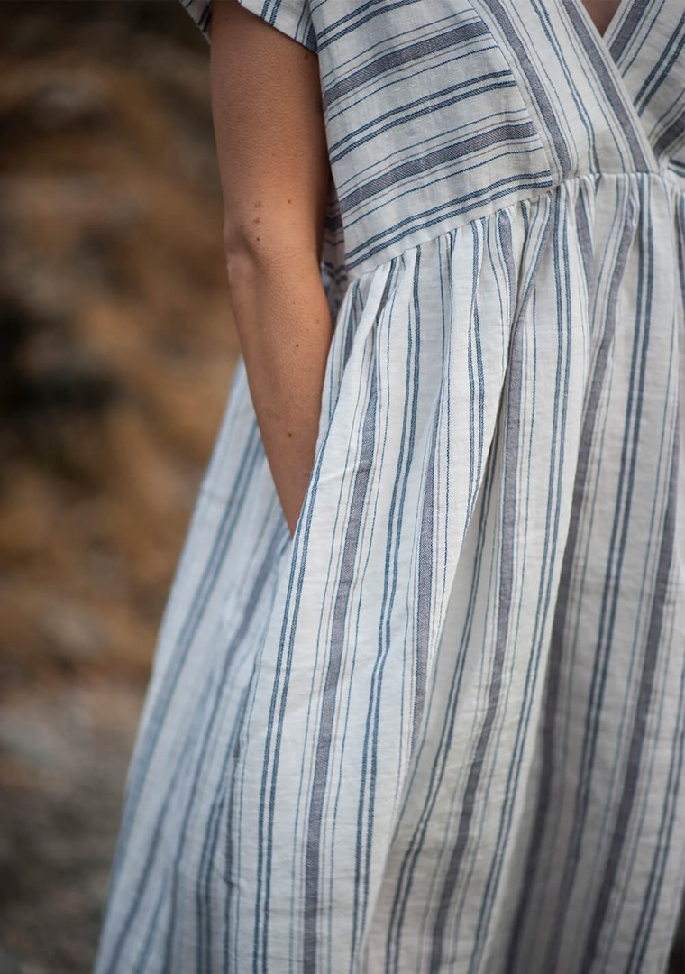 Striped linen dress Valentina 9
