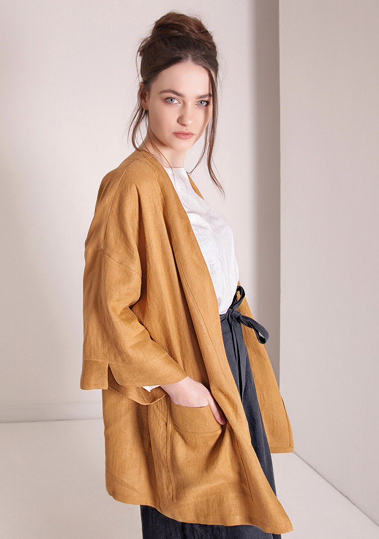 Linen cardigan Devonne 2