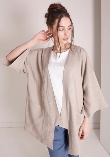 Oversized linen cardigan Devonne