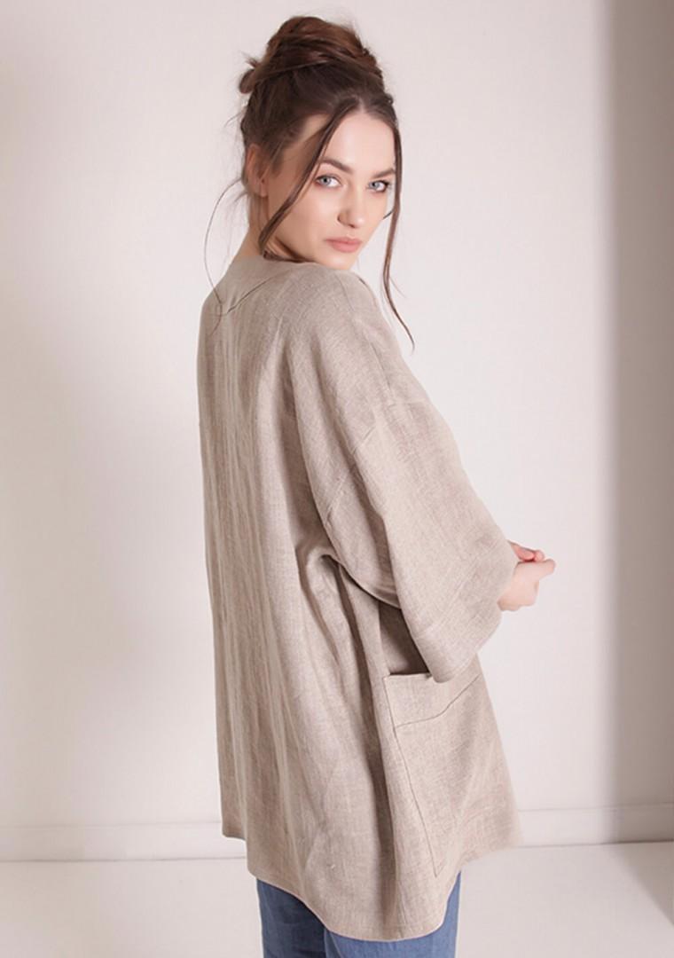 Oversized linen cardigan Devonne 8