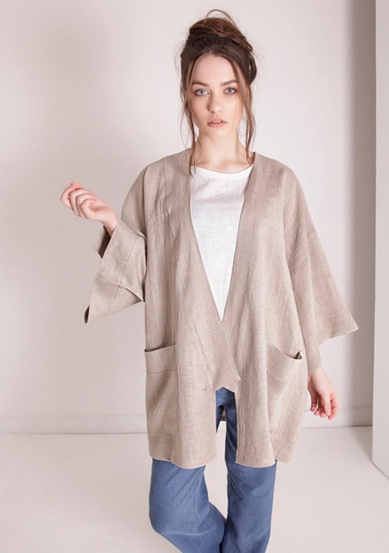 Oversized linen cardigan Devonne 3
