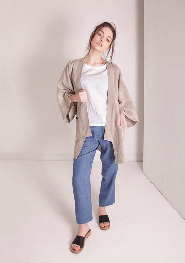 Oversized linen cardigan Devonne 4